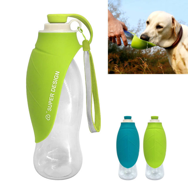 Portable Expandable Travel Food Grade Silicone Dog Water Bottle