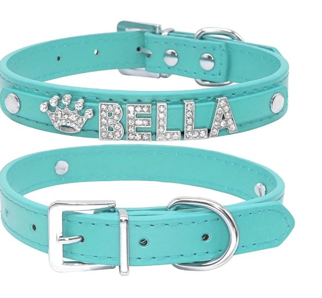 Dog's Bella Crystal Collar (personalized)