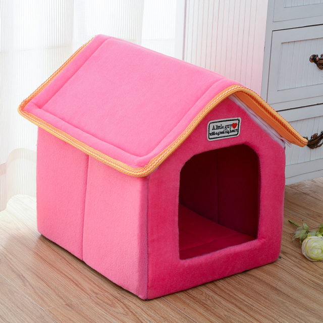 Folding Pet House with Soft Mat