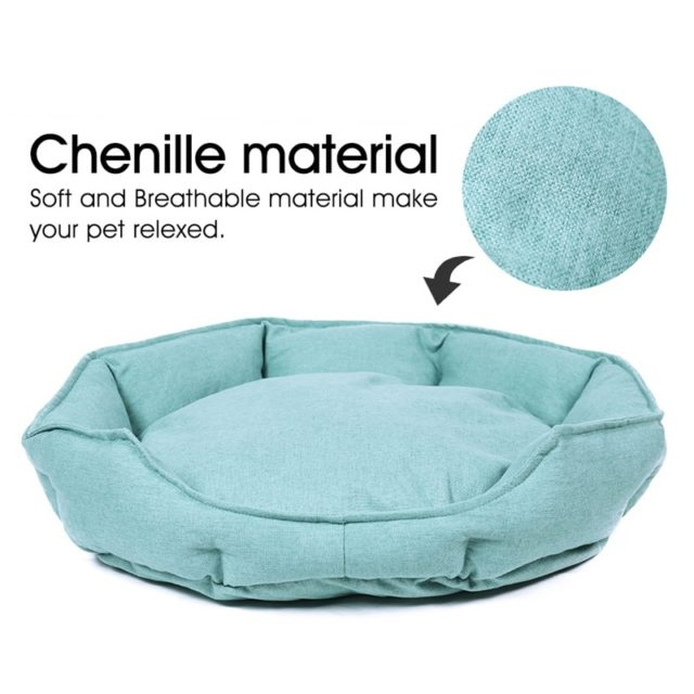 Pet's Breathable Round Plain Bed