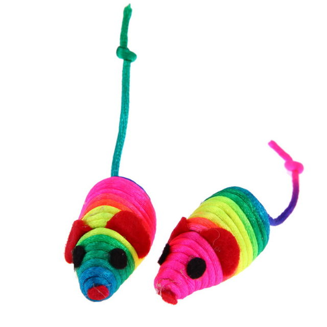 Colorful Toy Mouse Set (5 pcs)