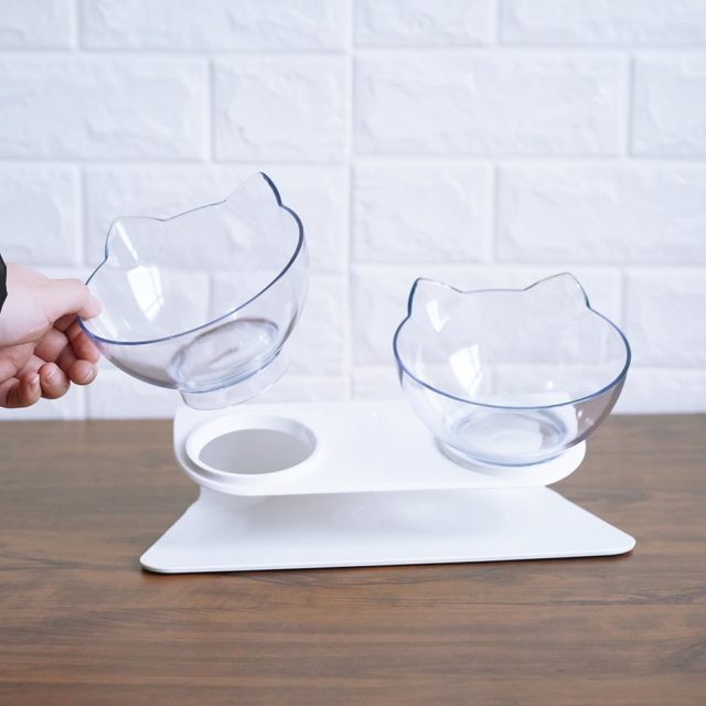 Non-Slip Double Bowls for Food And Water