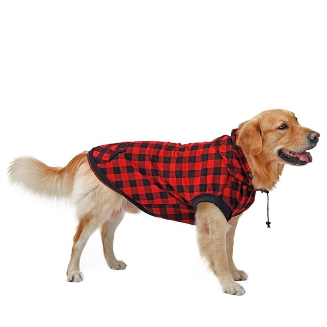 Dog's Warm Gridded Hoodie in Two Colors