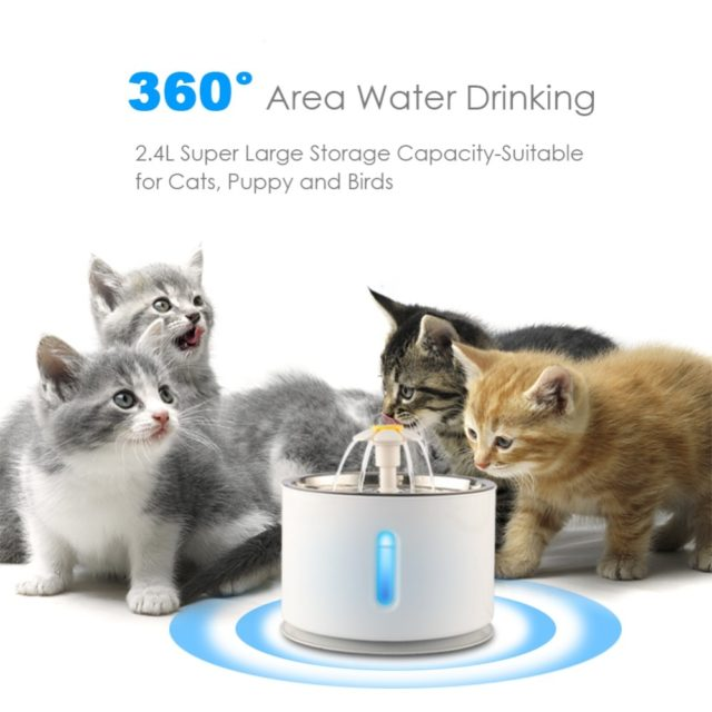 Pet's White Plastic Water Bowl