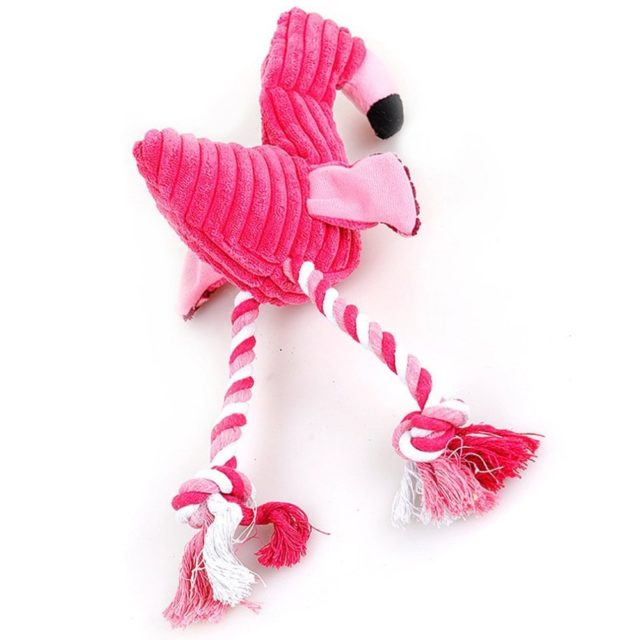 Dog's Flamingo Shaped Chew Toy