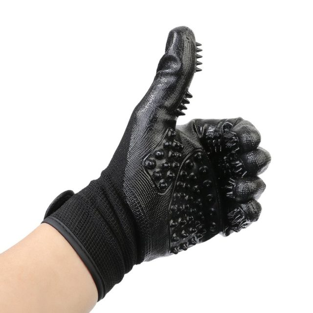Pet's Black Rubber Gloves