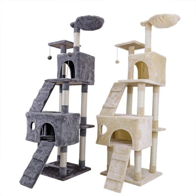 Fast Delivery Cat's Tree Tower Condo Scratcher  Pets Scratching Post House Hammock Pets Playing Climbing Post Cat's Tree Tower